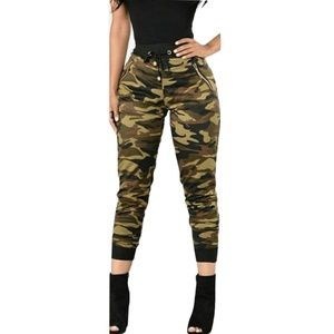 Pants - Jr or plus camo jogging pants
